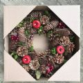 Christmas Wreath 30cm Green & Red Natural FREE P&P